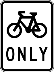 Traffic sign of Australia: Mandatory path for cyclists