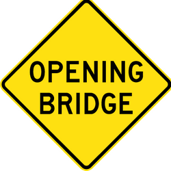 Traffic sign of Australia: Warning for a movable bridge
