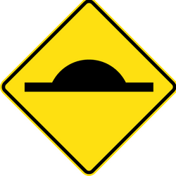 Traffic sign of Australia: Warning for a speed bump