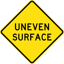 Traffic sign of Australia: Warning for a bad road surface