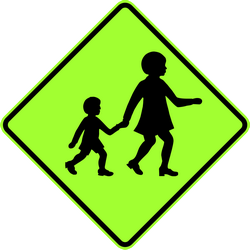 Traffic sign of Australia: Warning for children