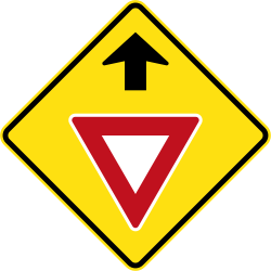 Traffic sign of Australia: Give way ahead