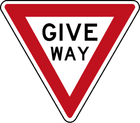 Traffic sign of Australia: Give way to all drivers