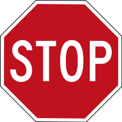 Traffic sign of Australia: Stop and give way to all drivers