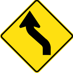 Traffic sign of Australia: Warning for a double curve, first left then right