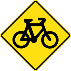 Traffic sign of Australia: Warning for cyclists