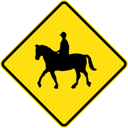 Traffic sign of Australia: Warning for equestrians
