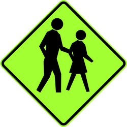 Traffic sign of Australia: Warning for pedestrians