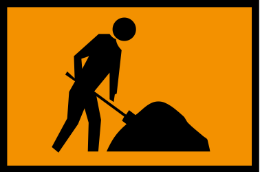 Traffic sign of Australia: Warning for roadworks