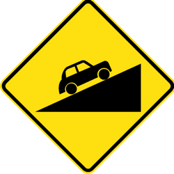 Traffic sign of Australia: Warning for a steep ascent