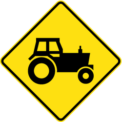 Traffic sign of Australia: Warning for tractors