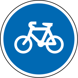 Traffic sign of New Zealand: Mandatory path for cyclists