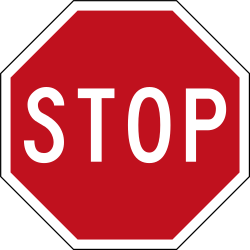 Traffic sign of New Zealand: Stop and give way to all drivers