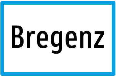 Traffic sign of Austria: Begin of a built-up area