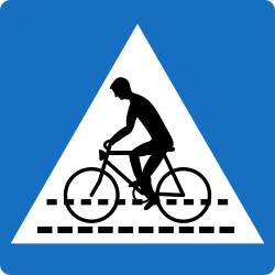 Traffic sign of Austria: Crossing for cyclists