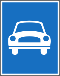 Traffic sign of Austria: Begin of an expressway