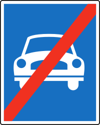 Traffic sign of Austria: End of the expressway
