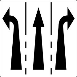 Traffic sign of Austria: Overview of the lanes and their direction