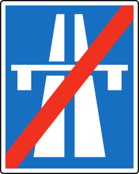 Traffic sign of Austria: End of the motorway
