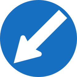 Traffic sign of Austria: Passing left mandatory