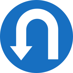 Traffic sign of Austria: Turning around mandatory (U-turn)