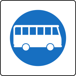 Traffic sign of Austria: Mandatory lane for buses