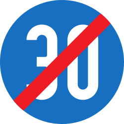 Traffic sign of Austria: End of the minimum speed