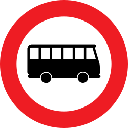 Traffic sign of Austria: Buses prohibited