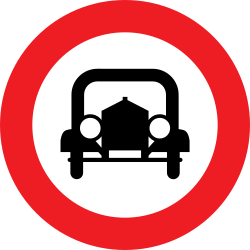 Traffic sign of Austria: Cars prohibited