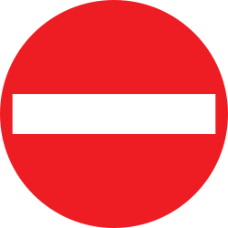 Traffic sign of Austria: Entry prohibited (road with one-way traffic)