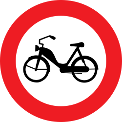 Traffic sign of Austria: Mopeds prohibited