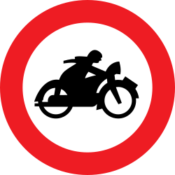 Traffic sign of Austria: Motorcycles prohibited