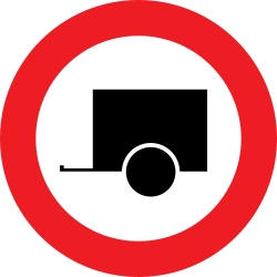 Traffic sign of Austria: Trailers prohibited