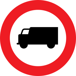 Traffic sign of Austria: Trucks prohibited