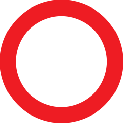 Traffic sign of Austria: Entry prohibited