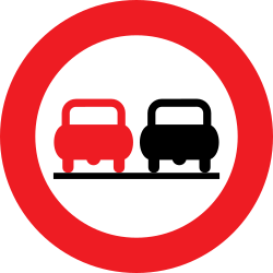 Traffic sign of Austria: Overtaking prohibited