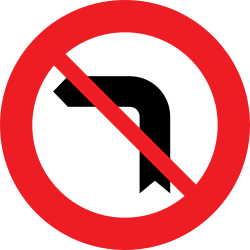 Traffic sign of Austria: Turning left prohibited