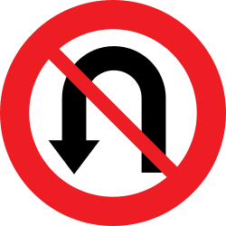 Traffic sign of Austria: Turning around prohibited (U-turn)