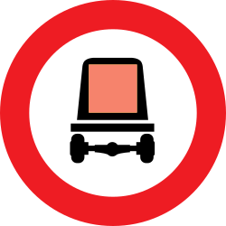 Traffic sign of Austria: Vehicles with dangerous goods prohibited