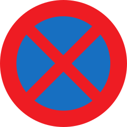 Traffic sign of Austria: Parking and stopping prohibited