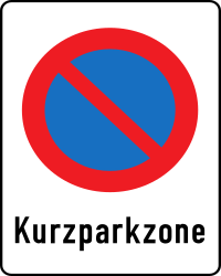 Traffic sign of Austria: Zone with a limited parking time