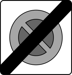 Traffic sign of Austria: End of the zone with limited parking time