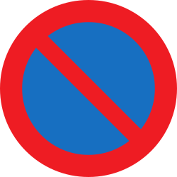 Traffic sign of Austria: Parking prohibited