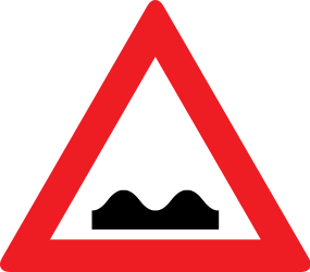 Traffic sign of Austria: Warning for a bad road surface