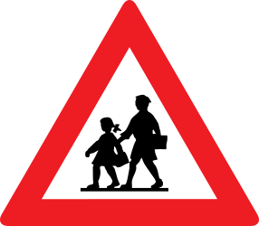 Traffic sign of Austria: Warning for children