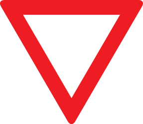 Traffic sign of Austria: Give way to all drivers