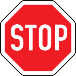 Traffic sign of Austria: Stop and give way to all drivers