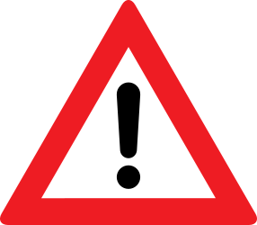 Traffic sign of Austria: Warning for a danger with no specific traffic sign