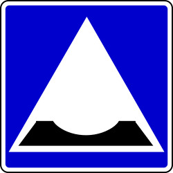 Traffic sign of Bosnia-Herzegovina: Dip in the road