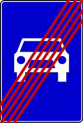Traffic sign of Bosnia-Herzegovina: End of the expressway